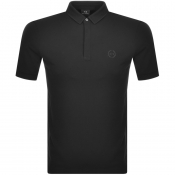 Armani Exchange Short Sleeved Polo T Shirt Black